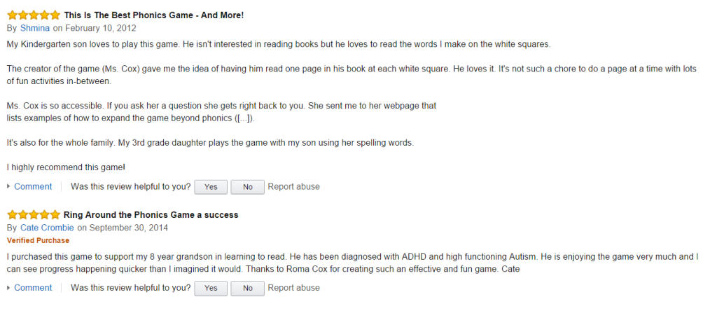 Phonics Reviews